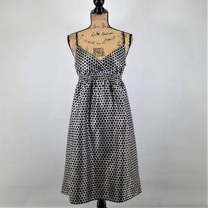 Derek Heart white black polka dot sundress size L